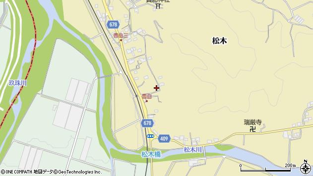 大分県玖珠郡九重町松木521周辺の地図