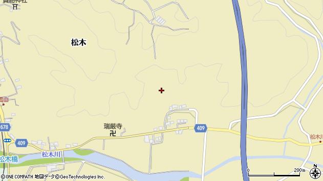 大分県玖珠郡九重町松木室園周辺の地図