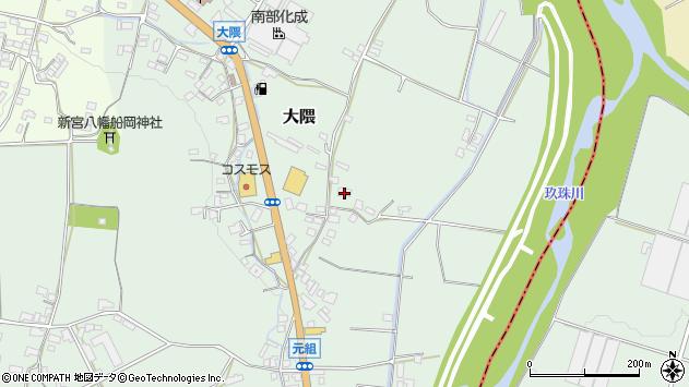 大分県玖珠郡玖珠町大隈962周辺の地図