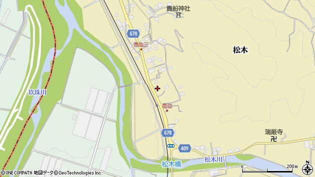 大分県玖珠郡九重町松木514周辺の地図