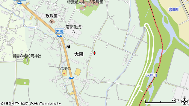 大分県玖珠郡玖珠町大隈倉園周辺の地図