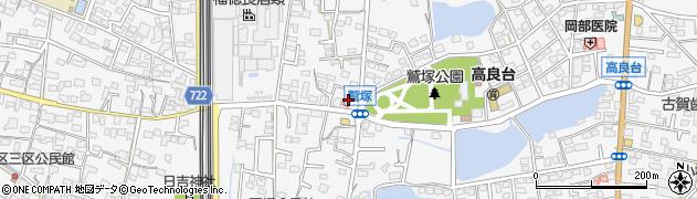 福岡県久留米市荒木町荒木周辺の地図