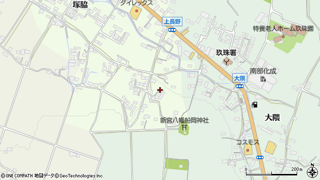 大分県玖珠郡玖珠町塚脇819周辺の地図