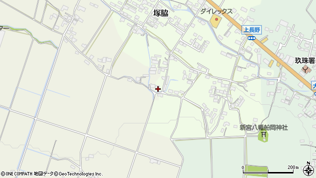 大分県玖珠郡玖珠町塚脇887周辺の地図