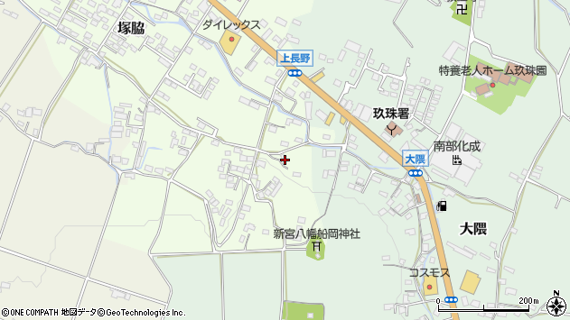 大分県玖珠郡玖珠町塚脇787周辺の地図