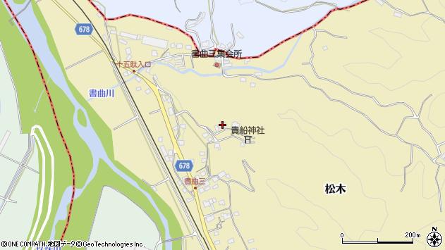 大分県玖珠郡九重町松木196周辺の地図
