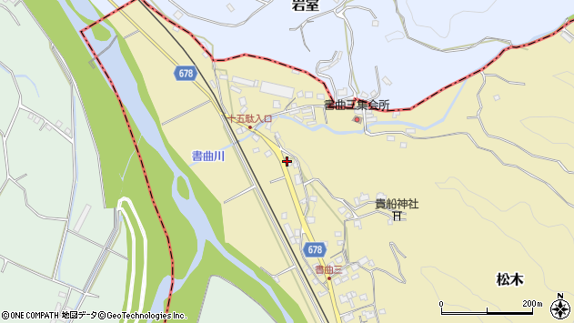 大分県玖珠郡九重町松木100周辺の地図