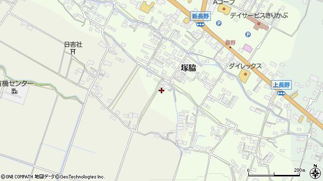 大分県玖珠郡玖珠町塚脇589周辺の地図