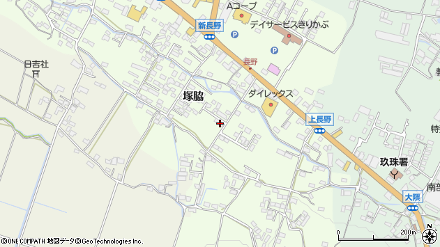 大分県玖珠郡玖珠町塚脇784周辺の地図