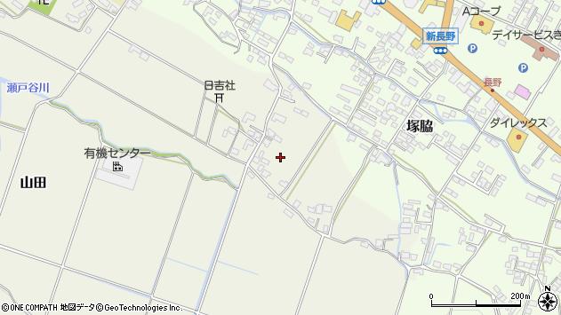 大分県玖珠郡玖珠町山田山王周辺の地図
