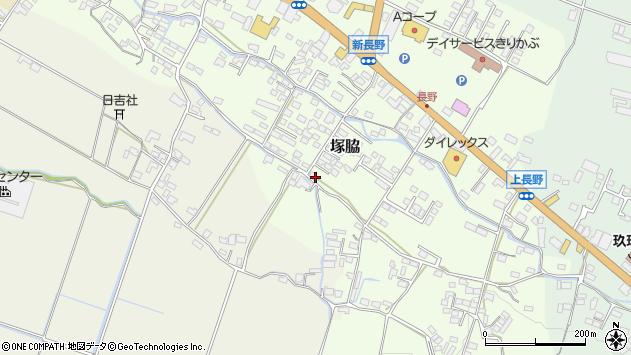 大分県玖珠郡玖珠町塚脇770周辺の地図