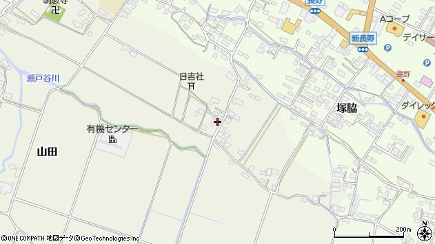 大分県玖珠郡玖珠町山田521周辺の地図