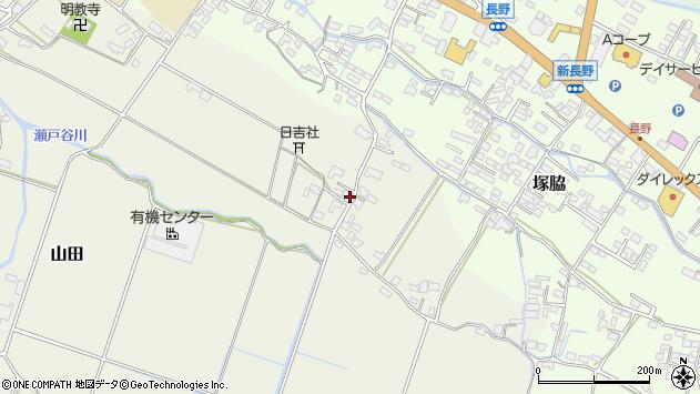 大分県玖珠郡玖珠町山田524周辺の地図