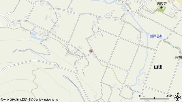 大分県玖珠郡玖珠町山田2039周辺の地図
