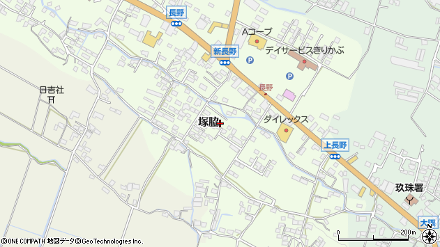 大分県玖珠郡玖珠町塚脇777周辺の地図