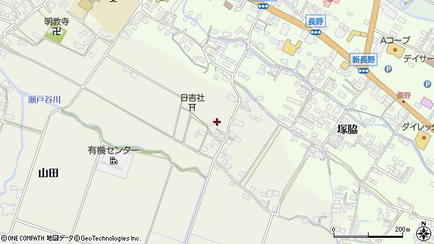大分県玖珠郡玖珠町山田535周辺の地図