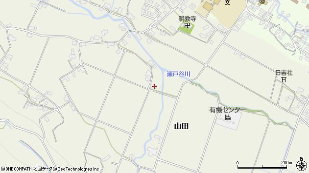 大分県玖珠郡玖珠町山田1875周辺の地図