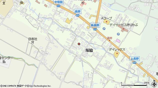 大分県玖珠郡玖珠町塚脇748周辺の地図
