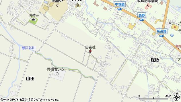 大分県玖珠郡玖珠町山田505周辺の地図