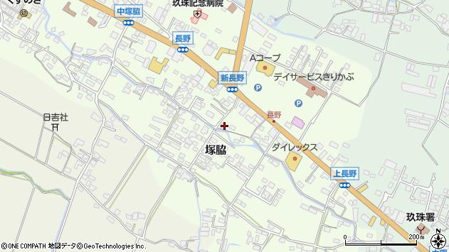 大分県玖珠郡玖珠町塚脇611周辺の地図
