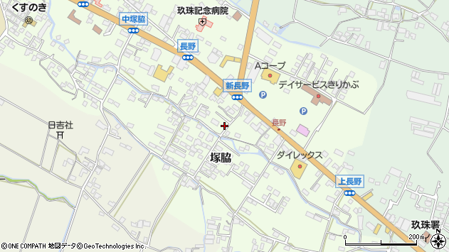 大分県玖珠郡玖珠町塚脇562周辺の地図