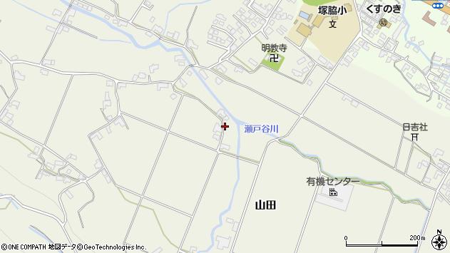 大分県玖珠郡玖珠町山田1880周辺の地図