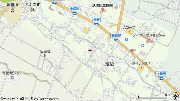 大分県玖珠郡玖珠町塚脇743周辺の地図