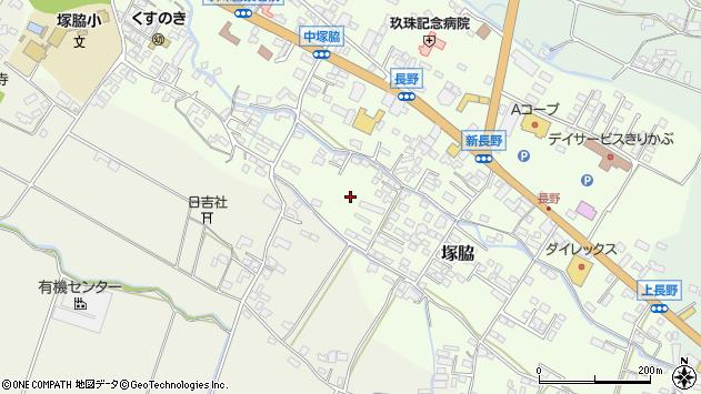 大分県玖珠郡玖珠町塚脇長野新町周辺の地図
