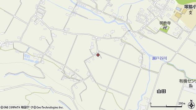 大分県玖珠郡玖珠町山田1961周辺の地図