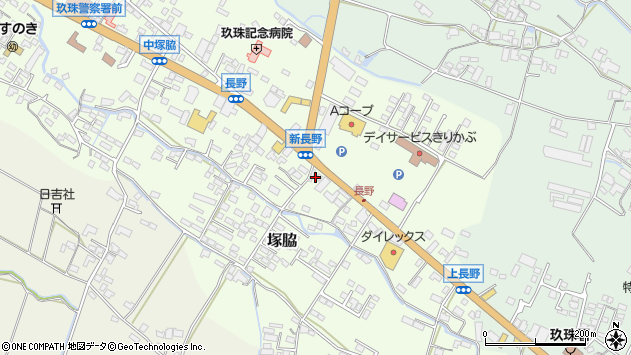 大分県玖珠郡玖珠町塚脇618周辺の地図