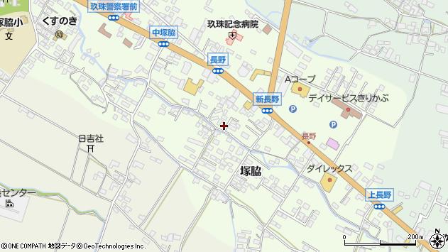 大分県玖珠郡玖珠町塚脇557周辺の地図