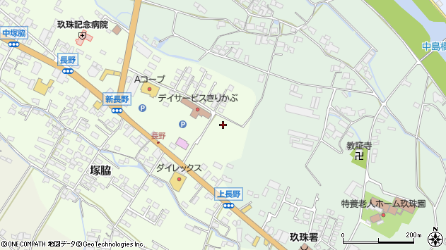 大分県玖珠郡玖珠町塚脇長野中周辺の地図