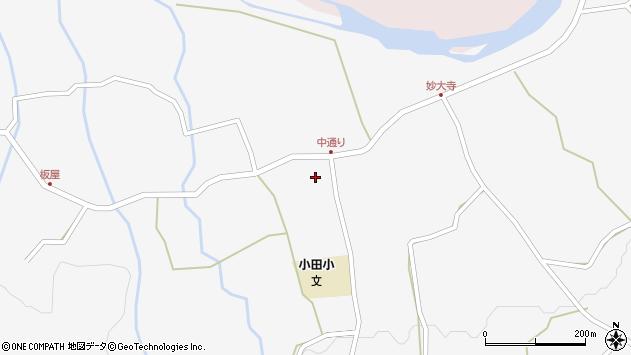 大分県玖珠郡玖珠町小田990周辺の地図