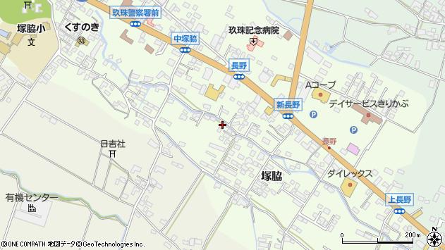大分県玖珠郡玖珠町塚脇745周辺の地図