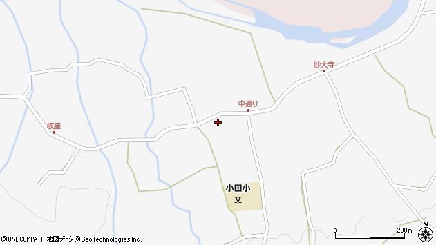 大分県玖珠郡玖珠町小田中通周辺の地図