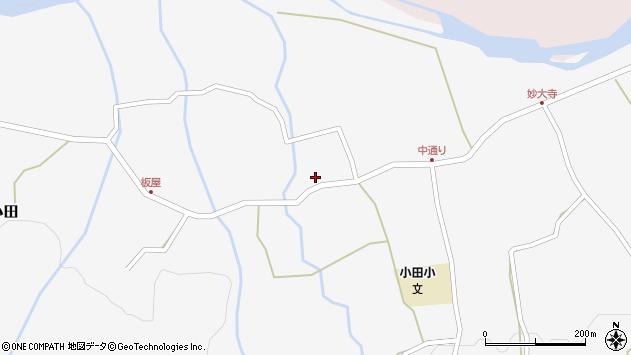 大分県玖珠郡玖珠町小田868周辺の地図
