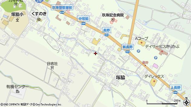大分県玖珠郡玖珠町塚脇595周辺の地図