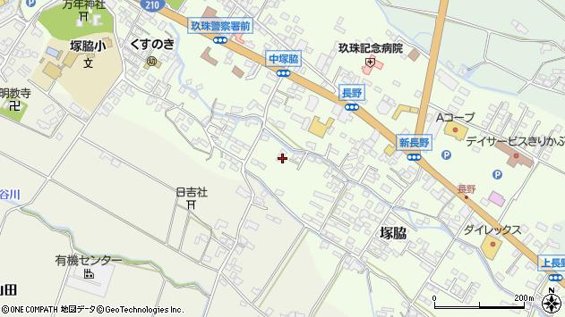 大分県玖珠郡玖珠町塚脇593周辺の地図