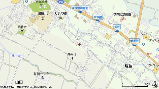 大分県玖珠郡玖珠町塚脇517周辺の地図