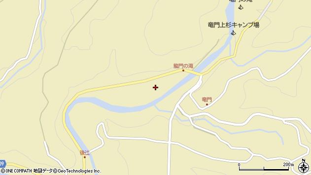 大分県玖珠郡九重町松木竜門周辺の地図