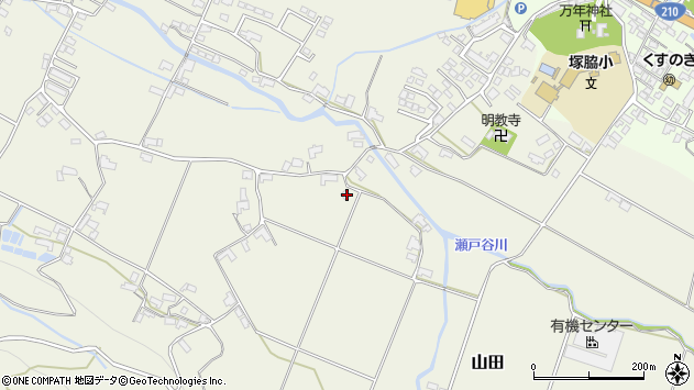 大分県玖珠郡玖珠町山田1929周辺の地図