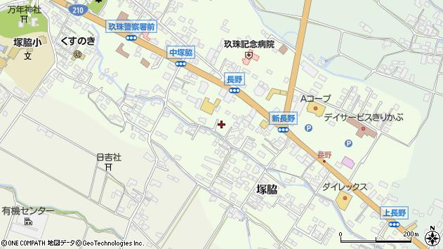 大分県玖珠郡玖珠町塚脇551周辺の地図