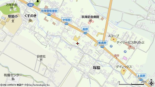 大分県玖珠郡玖珠町塚脇542周辺の地図
