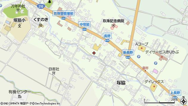 大分県玖珠郡玖珠町塚脇541周辺の地図