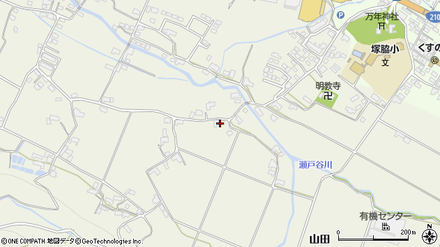 大分県玖珠郡玖珠町山田1949周辺の地図