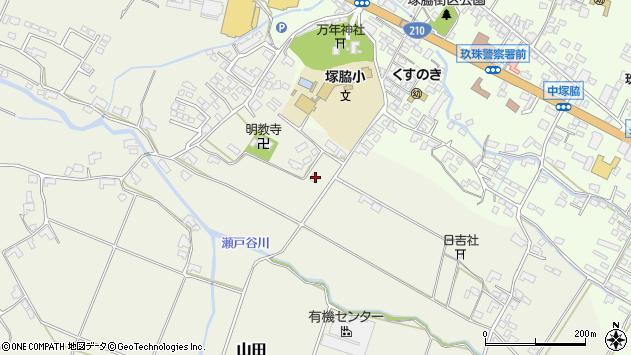 大分県玖珠郡玖珠町山田348周辺の地図