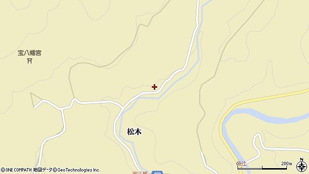大分県玖珠郡九重町松木1397周辺の地図