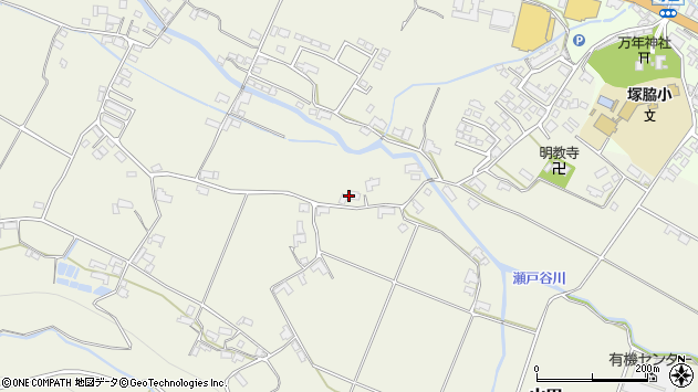 大分県玖珠郡玖珠町山田1944周辺の地図