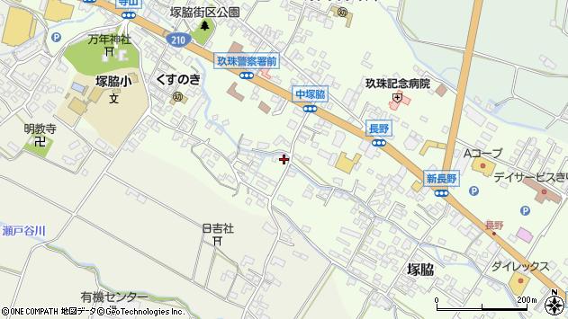 大分県玖珠郡玖珠町塚脇575周辺の地図