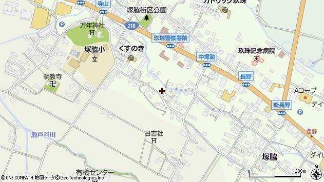 大分県玖珠郡玖珠町塚脇536周辺の地図